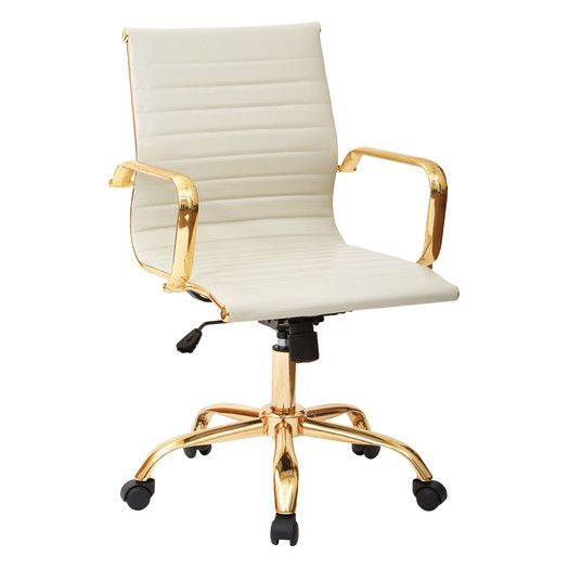 Phenomenal White Gold Office Chair All Modern New Office Ocoug Best Dining Table And Chair Ideas Images Ocougorg