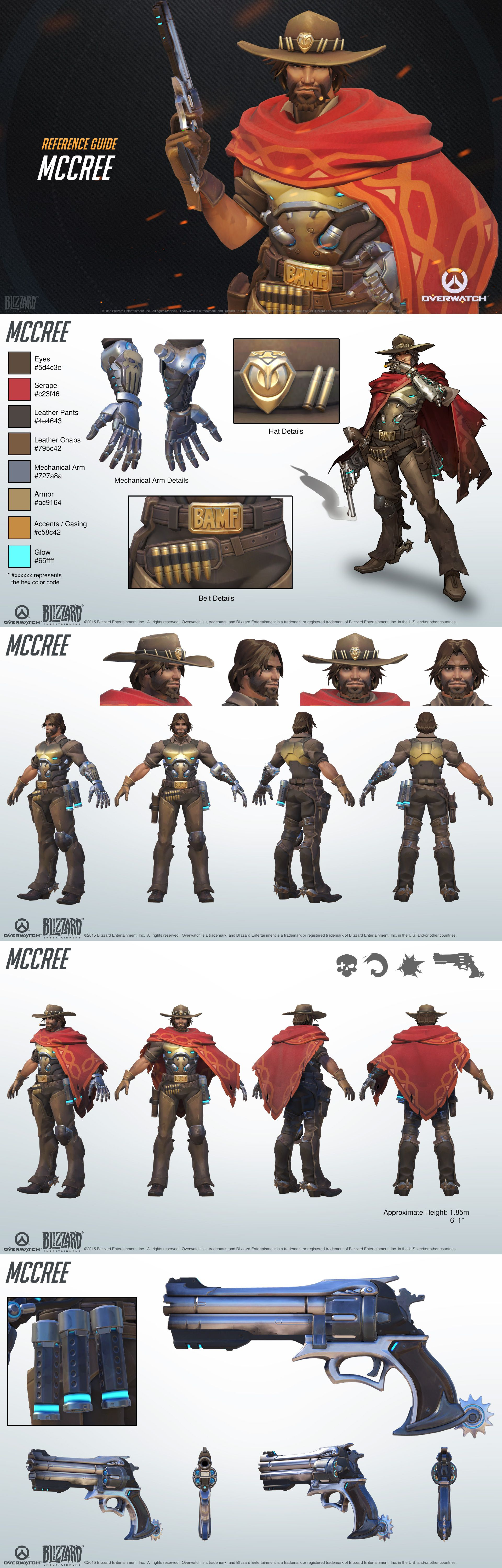 Character Design Overwatch : Overwatch mccree reference guide character sheet