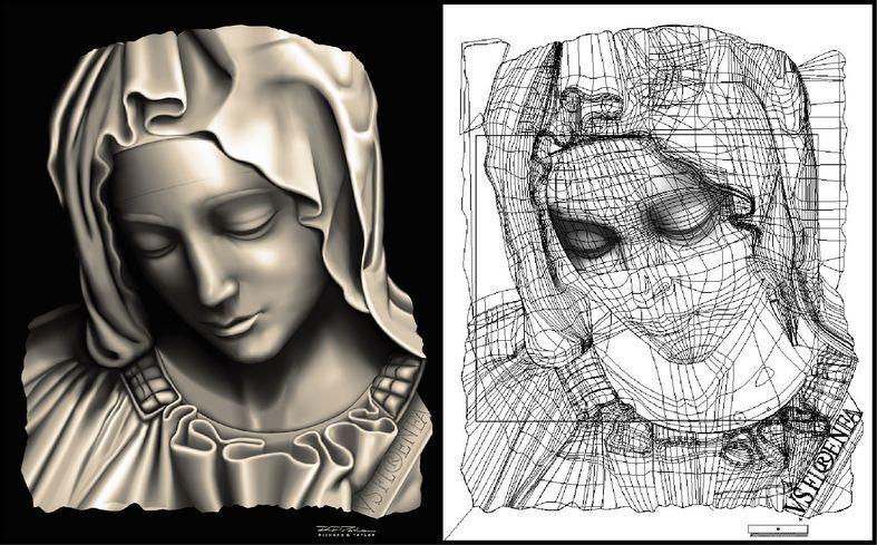 Line Art Vector Illustrator : Detail from the pieta by michelangelo vector illustration