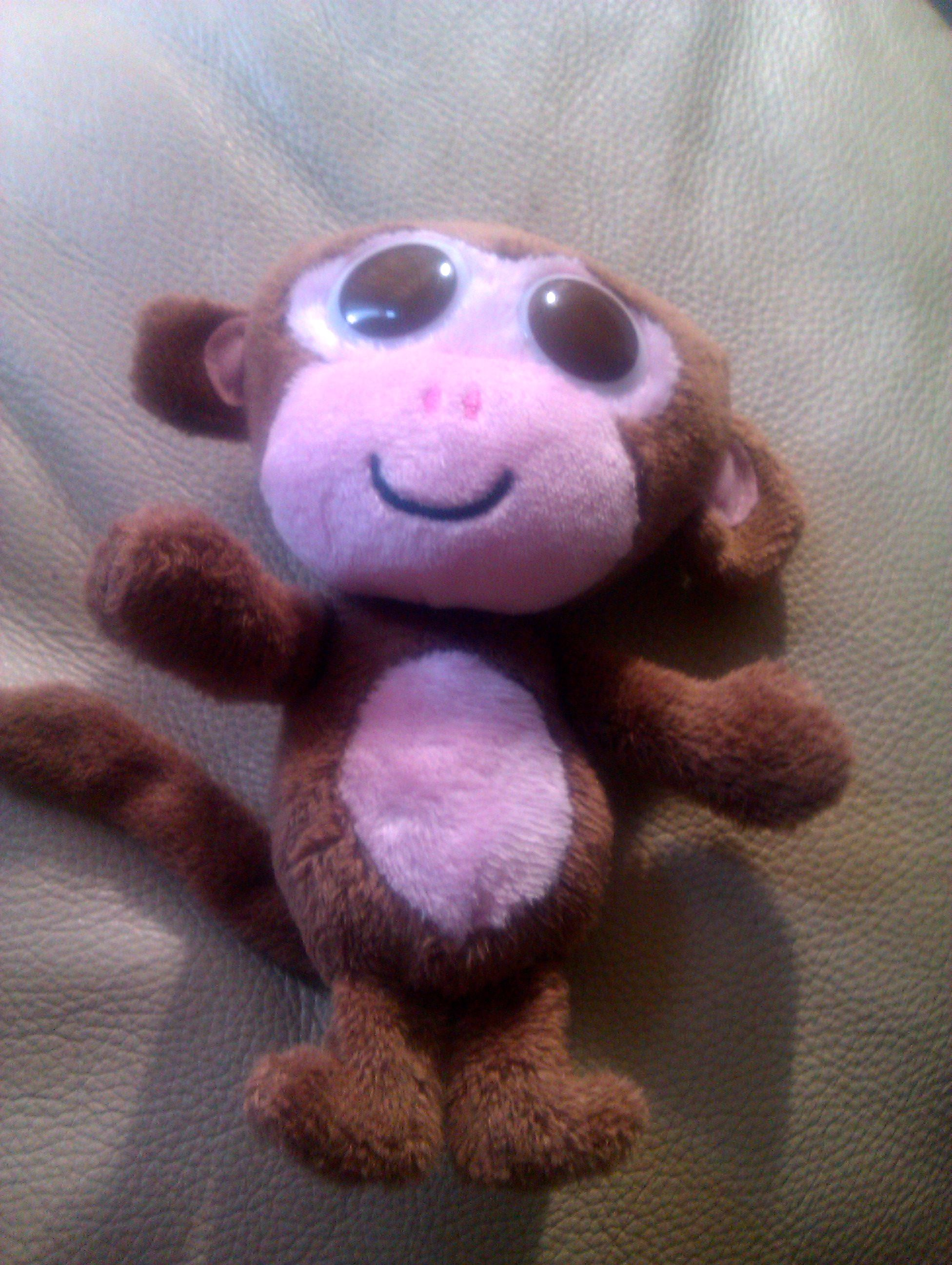 Very cute free monkey toy I got with a Cadbury's buttons egg!
