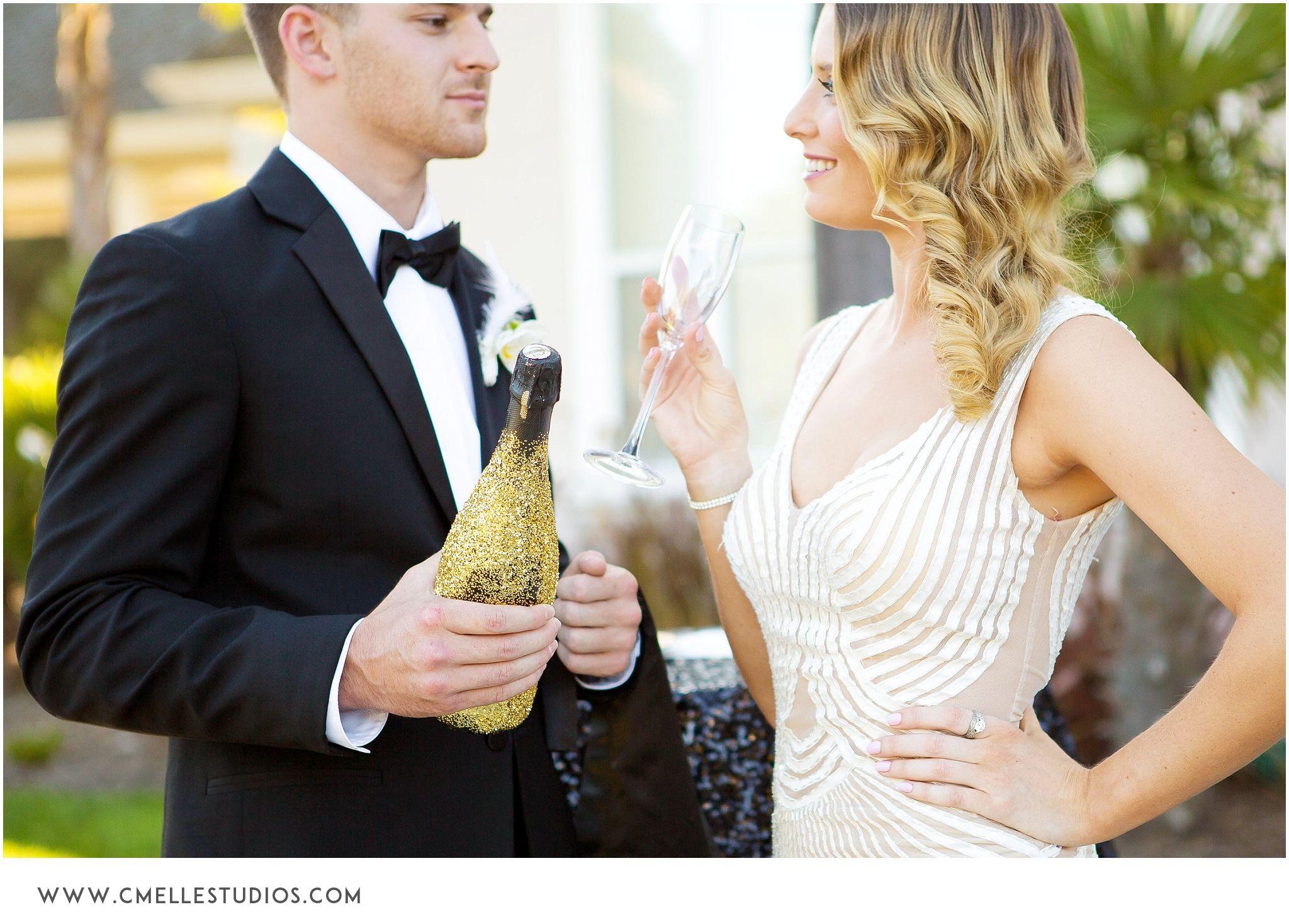 Gatsby Inspired Modern Glam Wedding   Portfolio Shoot   c.m.elle studios   www.ROQUEnapaevents.com