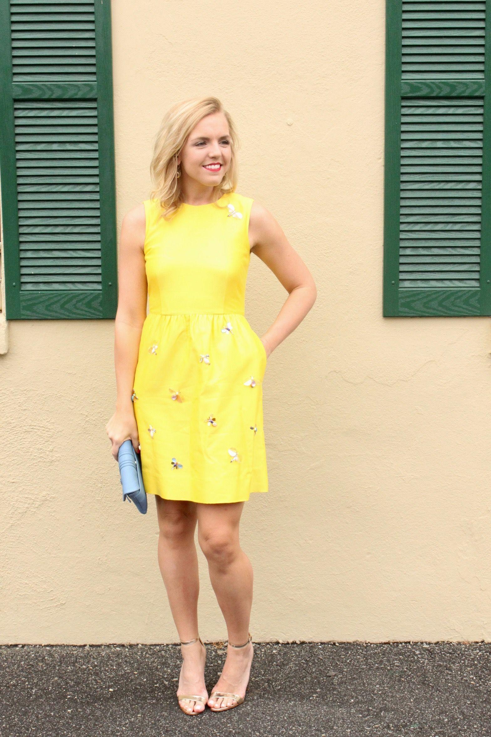 Yellow Embellished Dress Reese S Hardwear Fashion Blog Embellished Dress Fashion Dresses [ 2352 x 1568 Pixel ]