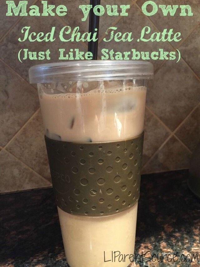 MAKE YOUR OWN ICED CHAI TEA LATTE (JUST LIKE STARBUCKS) #ketofrappucinostarbucks