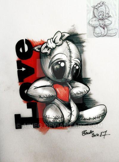 40 Crazy Voodoo Dolls Puppen Tattoo Tattoo 4