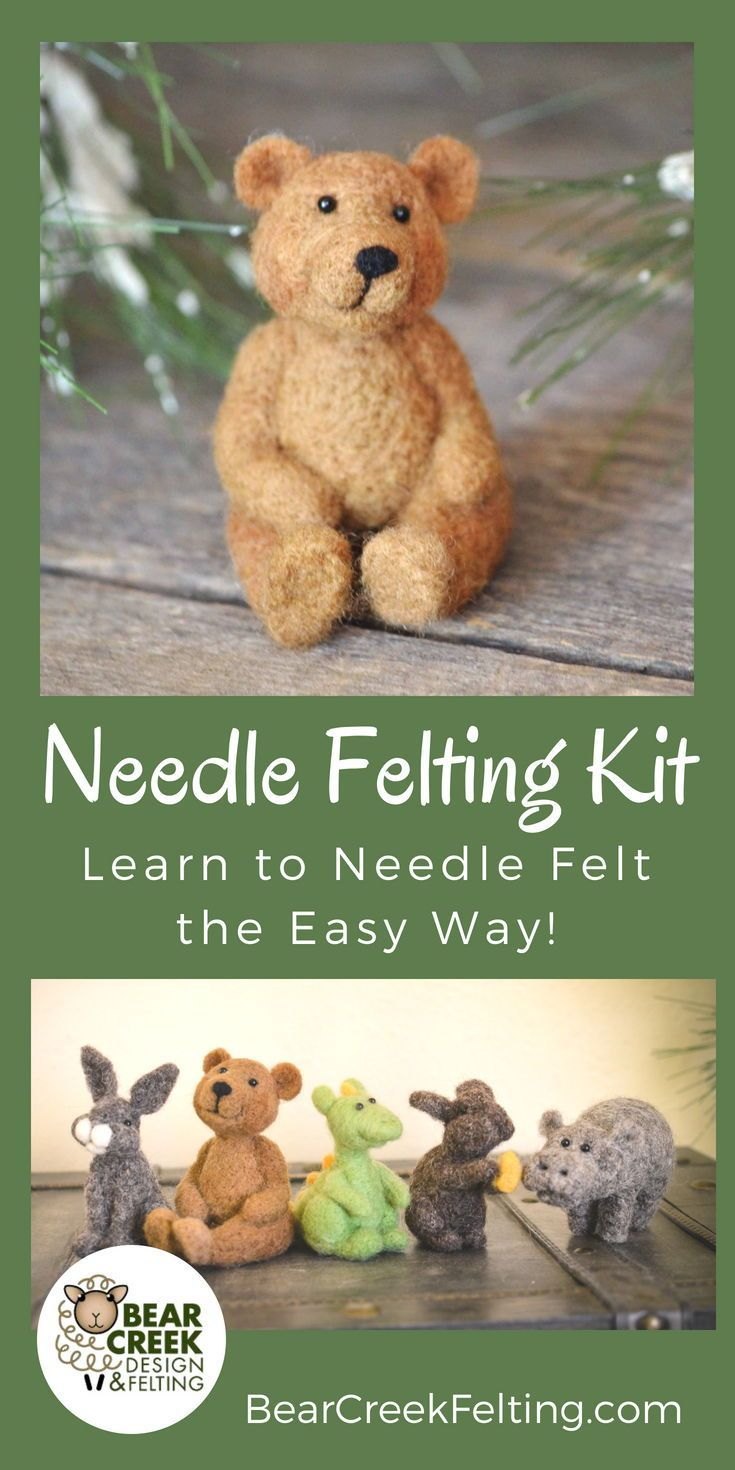 Bear Needle Felting Kit (Advanced Beginner) - Bear Creek Felting