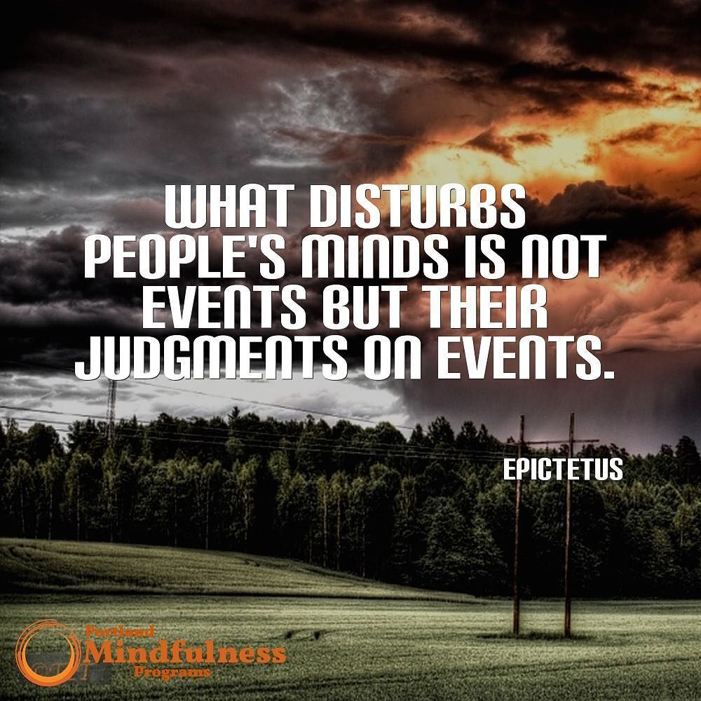 What disturbs people's minds is not events but their judgments on events. - Epictetus