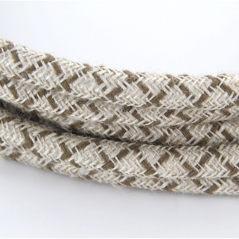 Cable Textile Coton Losange Marron Lin Naturel Ho3vv F 2x0 75mm 3m Chacon Losange Textile Coton Et Textiles