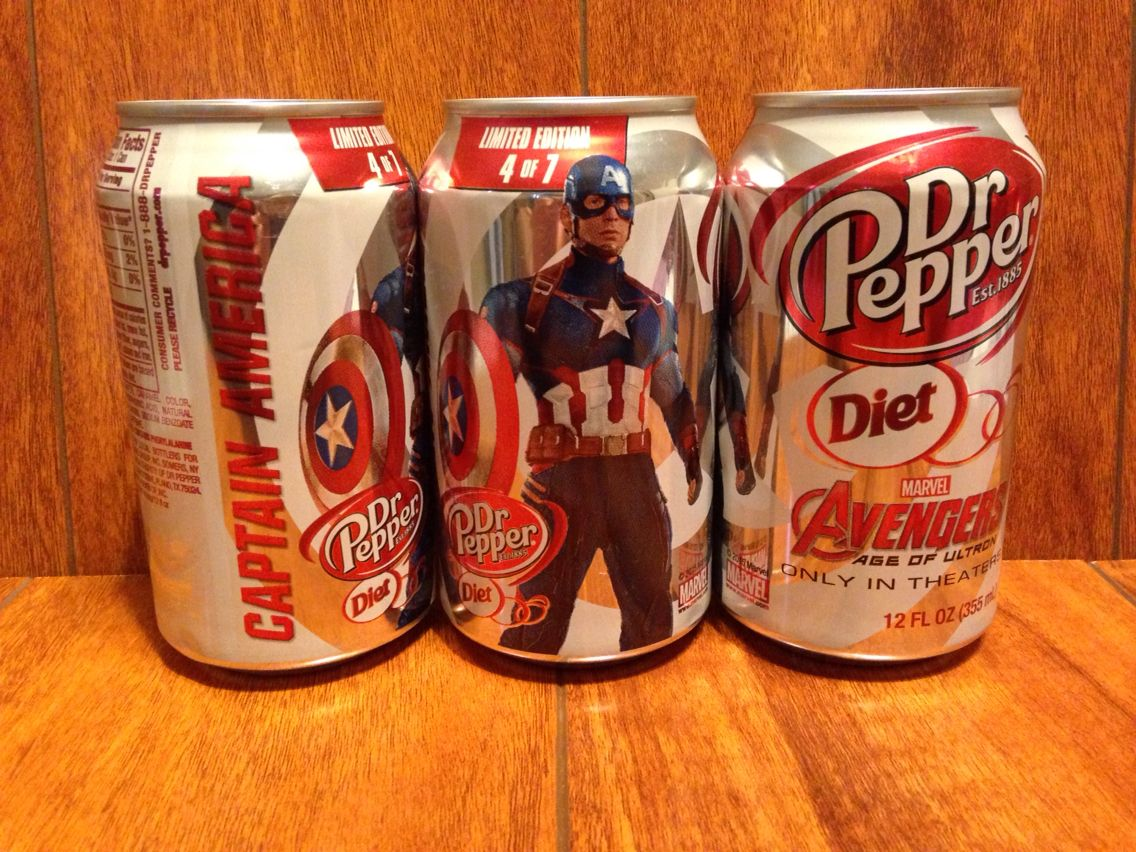 Diet dr pepper 2015 avengers limited edition 12 oz can