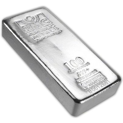 Republic Metals 100 Ounce Silver Bar Vat Free Silver Bars Silver Bullion Buy Gold And Silver