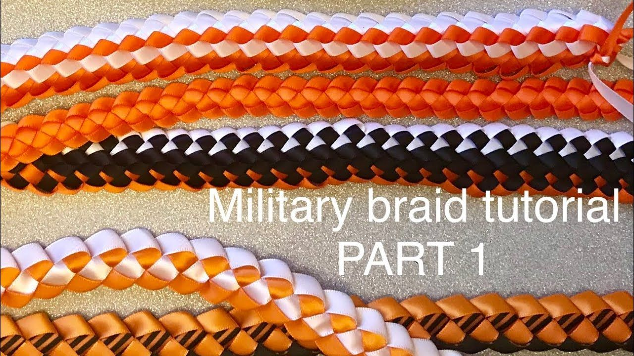 Part1 military braid tutorial. DIY homecoming mum braids; how to make a military braid