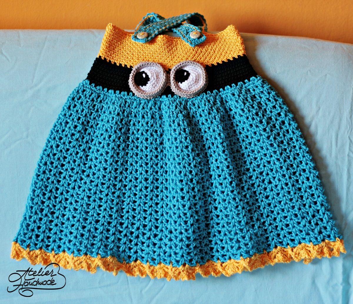 crochet-minion-dress | minions | Pinterest | Häkelideen, Wolle und ...