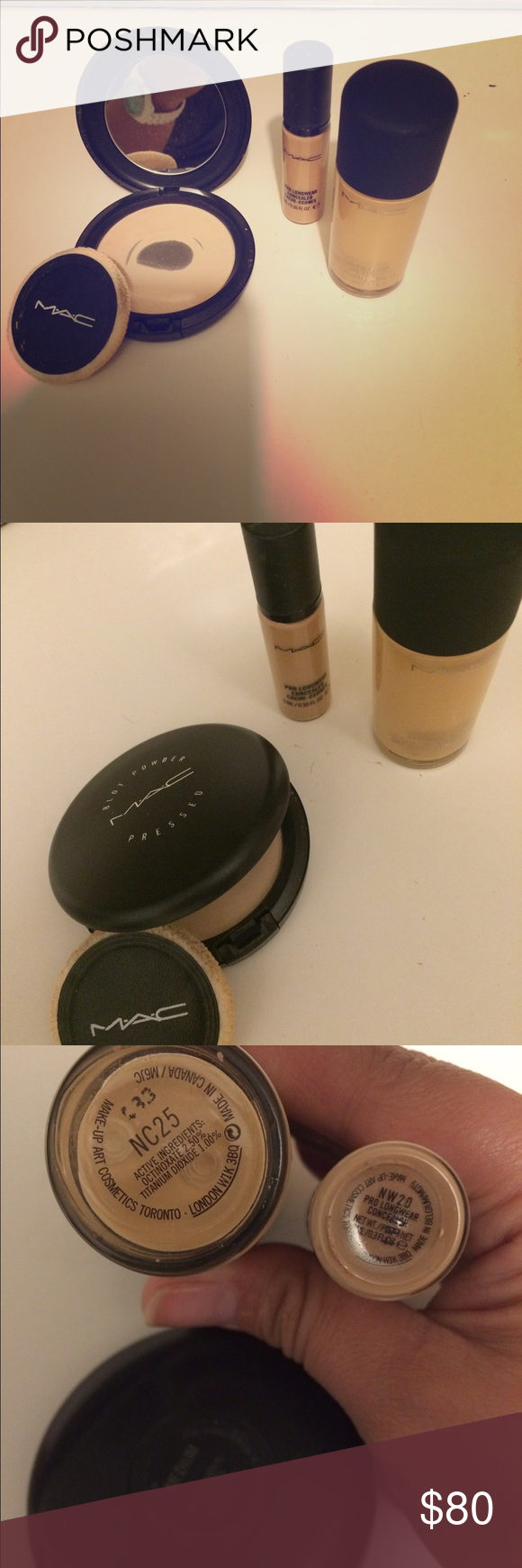 Mac Mac foundation the big bottle is full and the little one is half full MAC Cosmetics Makeup Foundation