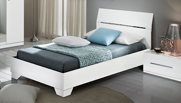 Lit Gloria Laqua C E Blanc Lit Blanc Mobilier Lit Chambre A Coucher Design