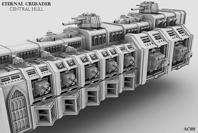 Eternal Crusader battlebarge | WH40K 3D Showcase