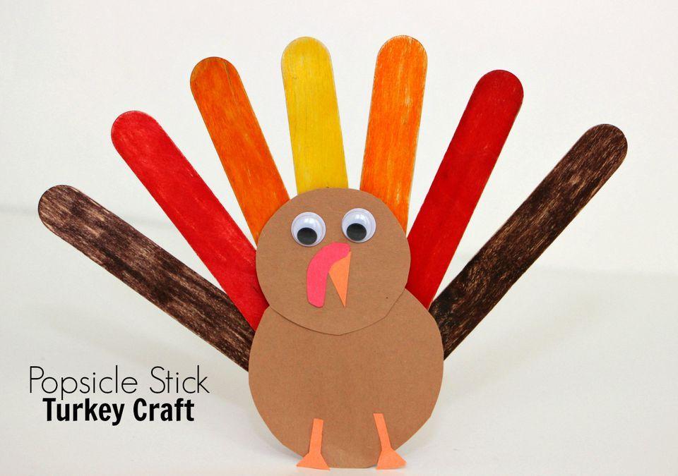Popsicle Stick Turkey Craft for Kids Popsicle stick