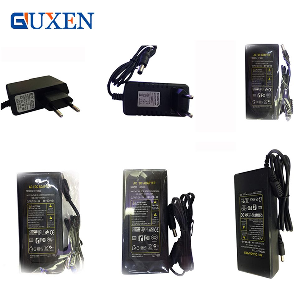 12 V Led Strip Voeding Adapter Eu Us Uk Au Plug Voor Ac 110 220 V Dc 12 V 1a 2a 3a 5a 6a 8a 10a Transformator Voor Led Strip