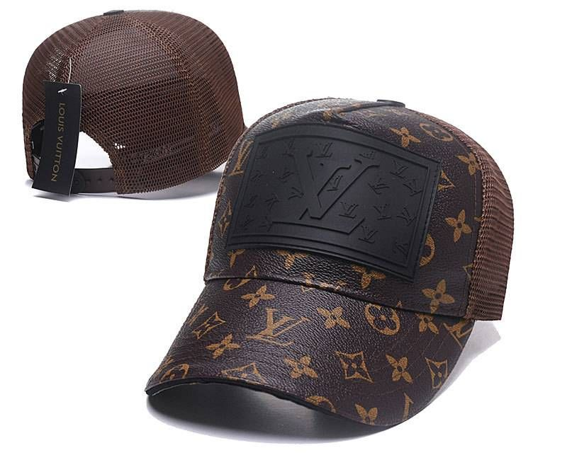 decebd16db7 Louis Vuitton LV Caps Brown Mesh Luxury Hats 005