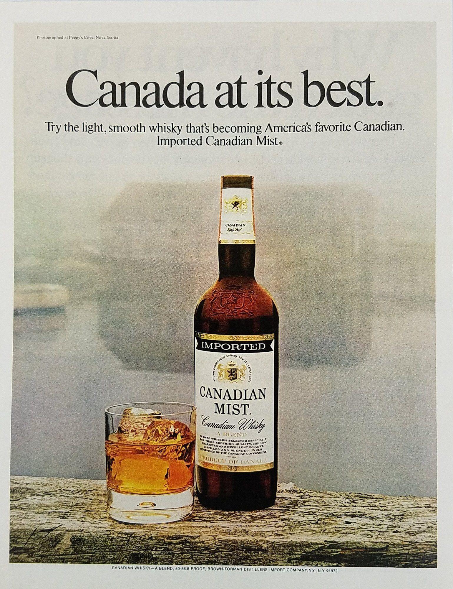 Vintage Canadian Mist Whisky T Shirt j5wrjqmAi