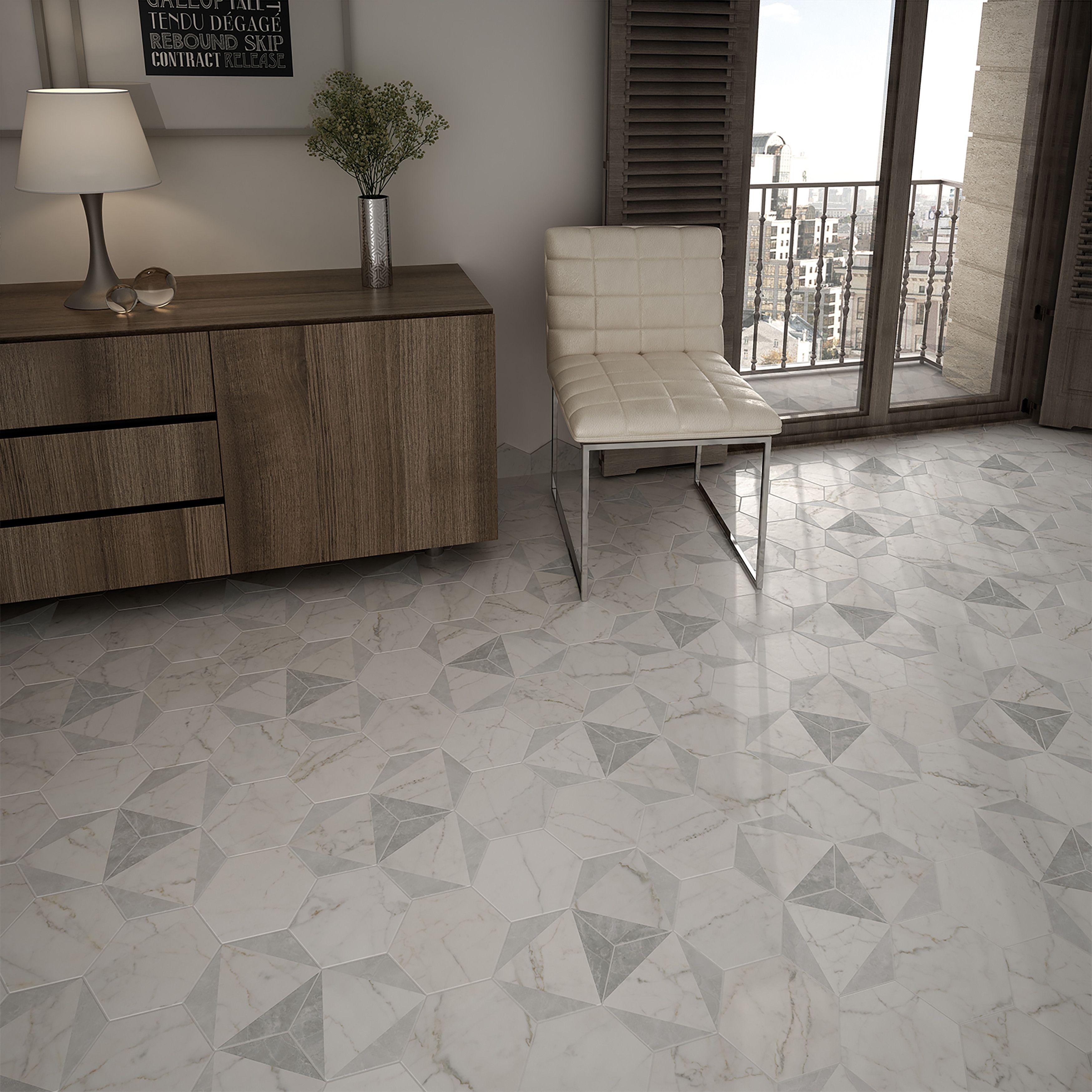 Karra 7 X 8 Porcelain Stone Look Wall And Floor Tile Flooring Wall Tiles Carrara