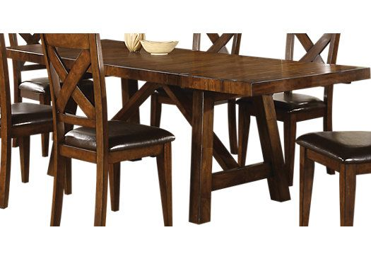 Shop For A Mango Dining Table At Rooms To Go Find Dining Tables That Will Look Great In Your Affordable Dining Room Sets Walnut Dining Table Dining Room Sets