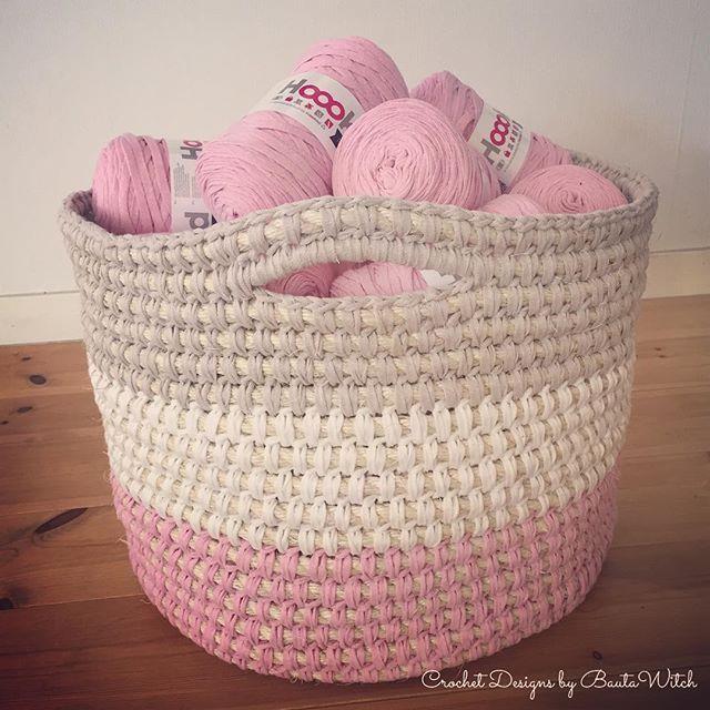 meine neueste design eine h keln korb aus sisal o hoooked band xl ist fertig hobby crochet. Black Bedroom Furniture Sets. Home Design Ideas