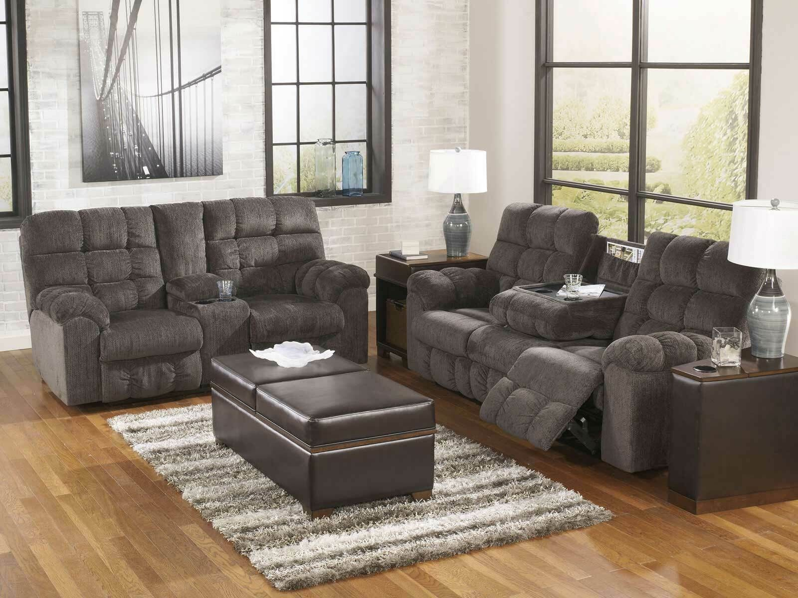 Modern Living Room Furniture Gray Fabric Reclining Sofa Couch Loveseat Set If1x Micro Living Room Collections Modern Furniture Living Room Couch And Loveseat