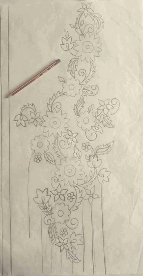 Pin by Kasturi on sketches | Pinterest | Bordado, Bordado a mano and ...