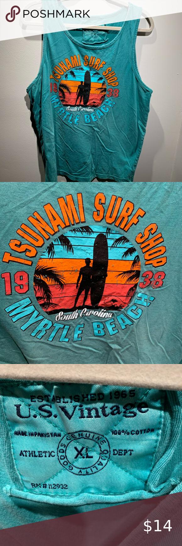 Myrtle Beach Surf Shop Tank Xl In 2020 Myrtle Beach Myrtle Beach South Carolina South Carolina Beaches