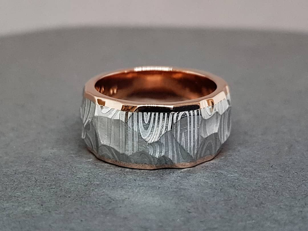 For Extreme Conditions In Hot Kitchen Chefs Ring Design Petri Pulliainen Petripulliainen Damascusring Damasteel Damascus Steel Ring Damascus Ring Rings
