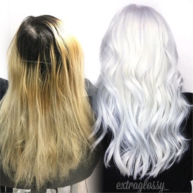 CORRECTION: Grown Out, Faded and Damaged To Ice White - Hair Color ...