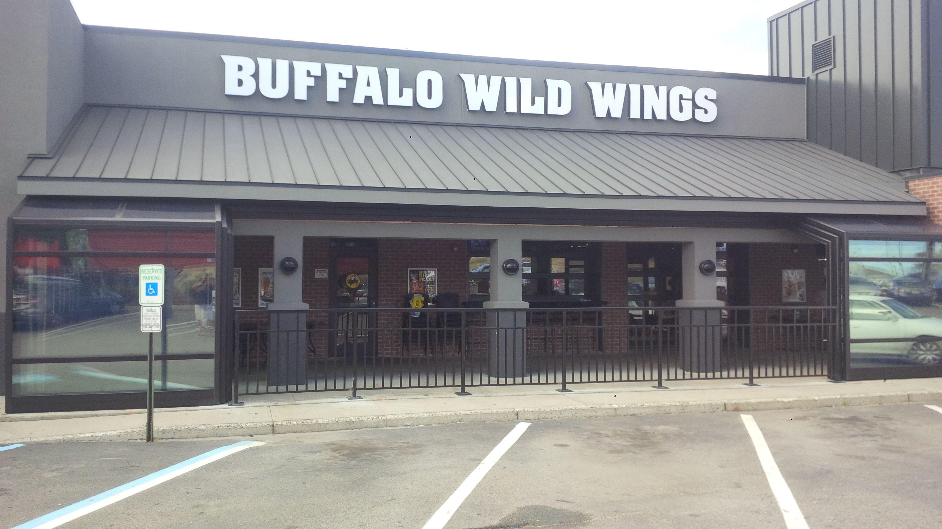 Roll A Cover S Retractable Enclosure At Buffalo Wild Wings In Woodbridge Nj Buffalo Wild Wings Buffalo Wild Wood Bridge