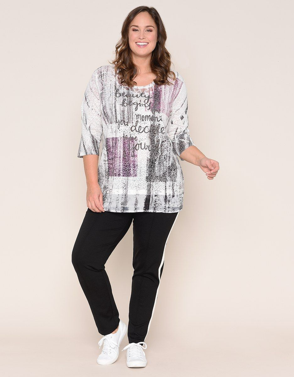 Thea Fantastisches Shirt Mit Spitzeneinsatz Shirts Spitze Und Mode