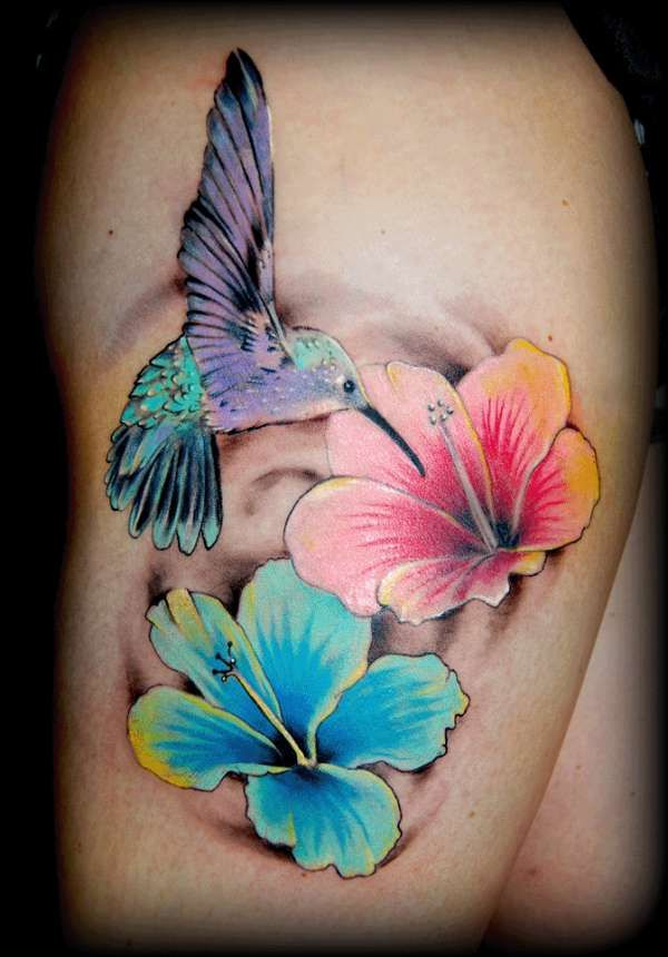 Tattoo S Body Modifications Hummingbird Flower Tattoos