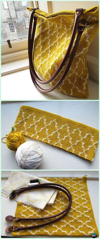 Crochet Moroccan Tote Free Pattern - Crochet Handbag Free Patterns ...