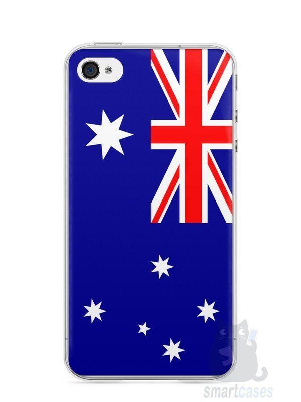 Capa Iphone 4/S Bandeira da Austrália - SmartCases - Acessórios para celulares e tablets :)