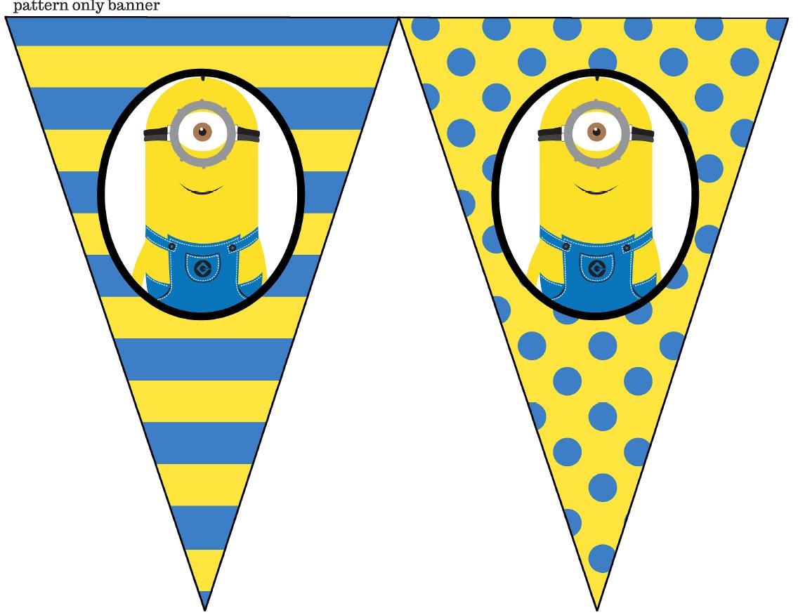 minion banner printableminion bunting minion party supplies minion thememinion birthday supplies minion decoration