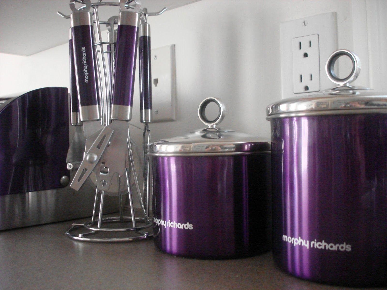 purple kitchen accessories are the kitchen decorating items which built in a purple color as the specific appearance in this case the kitchen accessories - Purple Kitchen Decorating