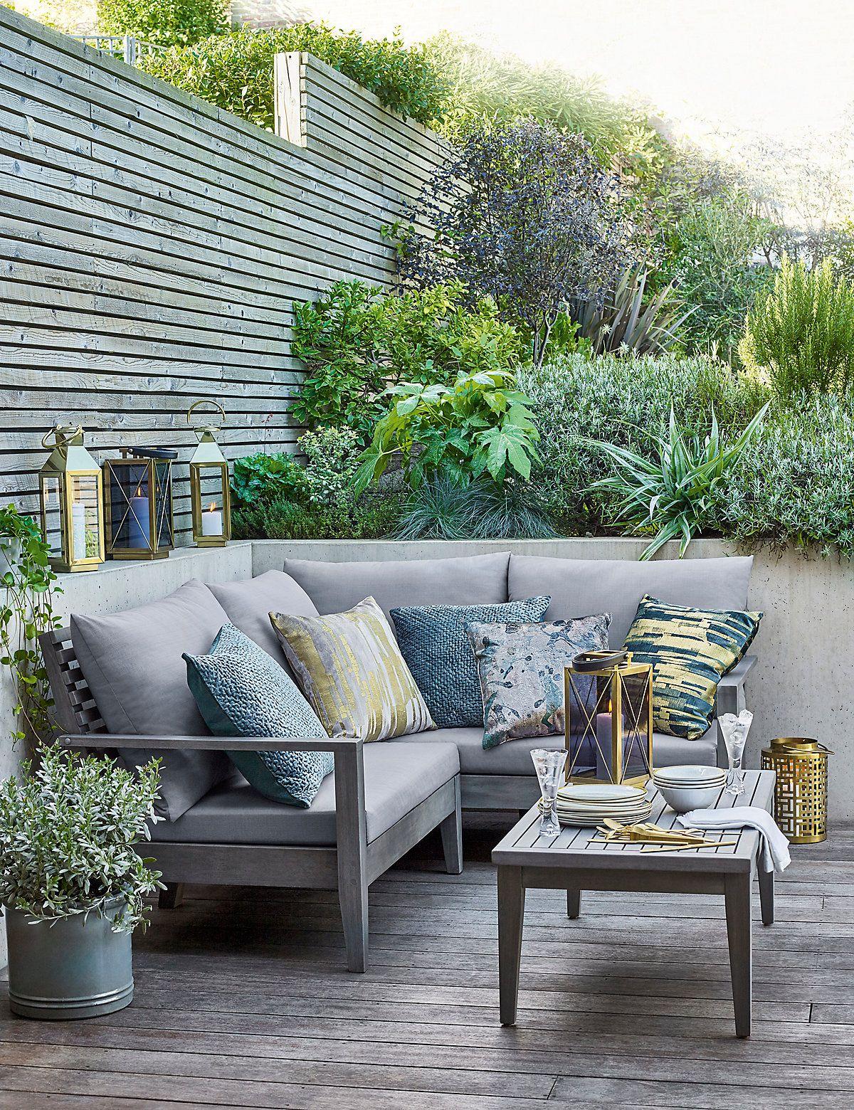 Melrose Corner Sofa Paisagismo Jardinagem Varanda
