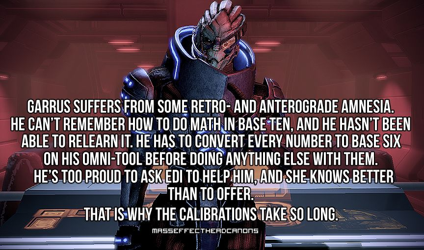 This explains everything: Mass Effect Headcanons | Video Game Stuff