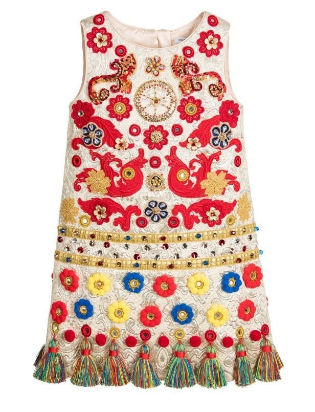 Dolce and Gabbana Embellished Shift Dress