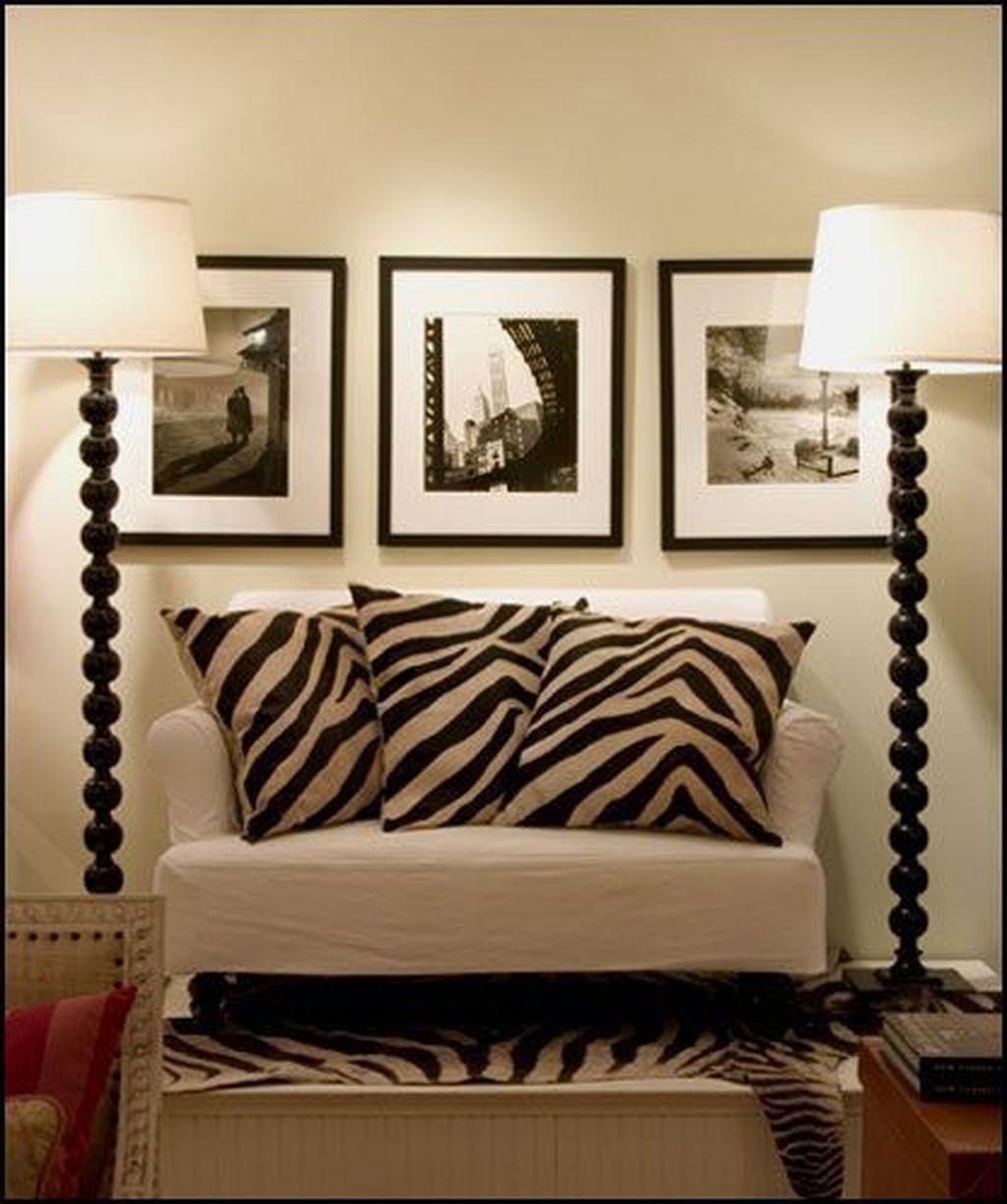 We Have A Major Design Crush On Bliss At Home Design Blogger Kristin Cadwallader S Living Room Follow Zebra Living Room African Living Rooms Home Living Room