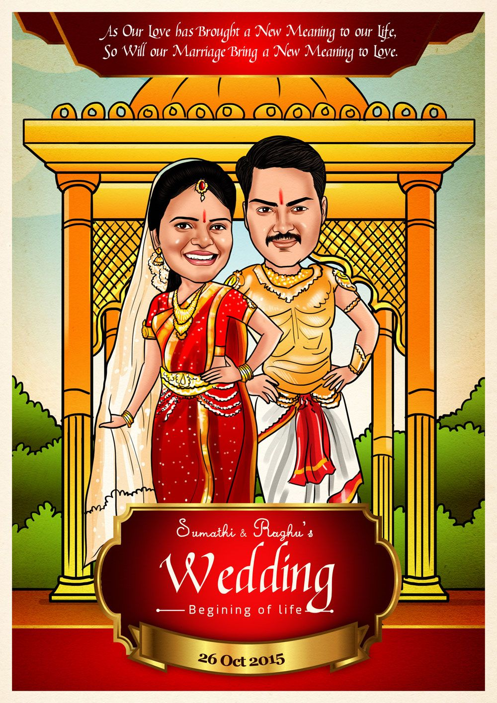 Pin by Elo on Indian Wedding Caricature Cards | Pinterest | Wedding ...