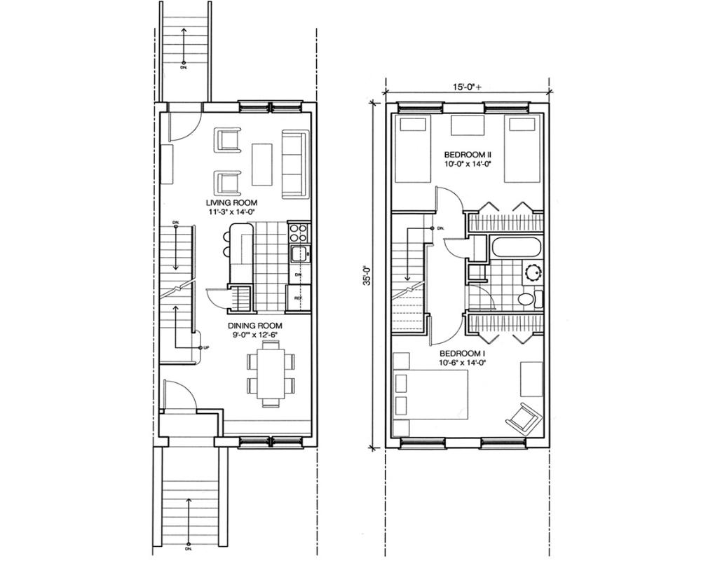 The Endlessly Adaptable Row House ... | Row house, Row ...