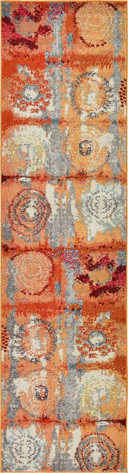 Orange 2 7 X 10 Casablanca Runner Rug Area Rugs