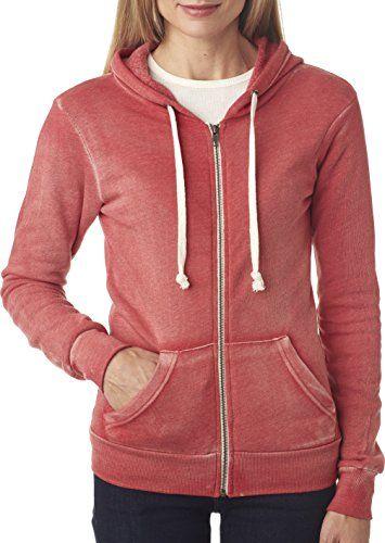 942bc2c2 MV Sport Angel Full-Zip Hooded Sweatshirt. W2350 Small Red | Women's ...