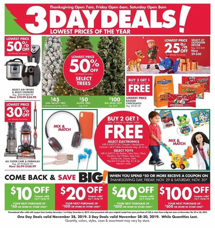 Big Lots Black Friday Ad Scan Deals And Sales 2019 Page 2 Of 12 Big Lots Black Friday Ads Black Friday