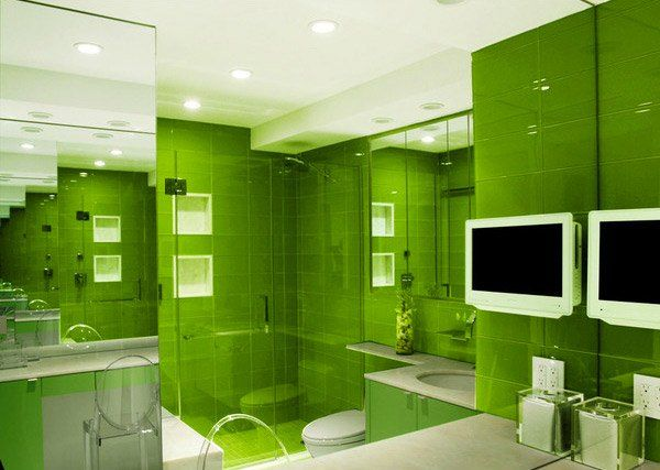 Green Bathroom With Modern And Cool Design Ideas Green Bathrooms - Green bathroom rugs for bathroom decorating ideas
