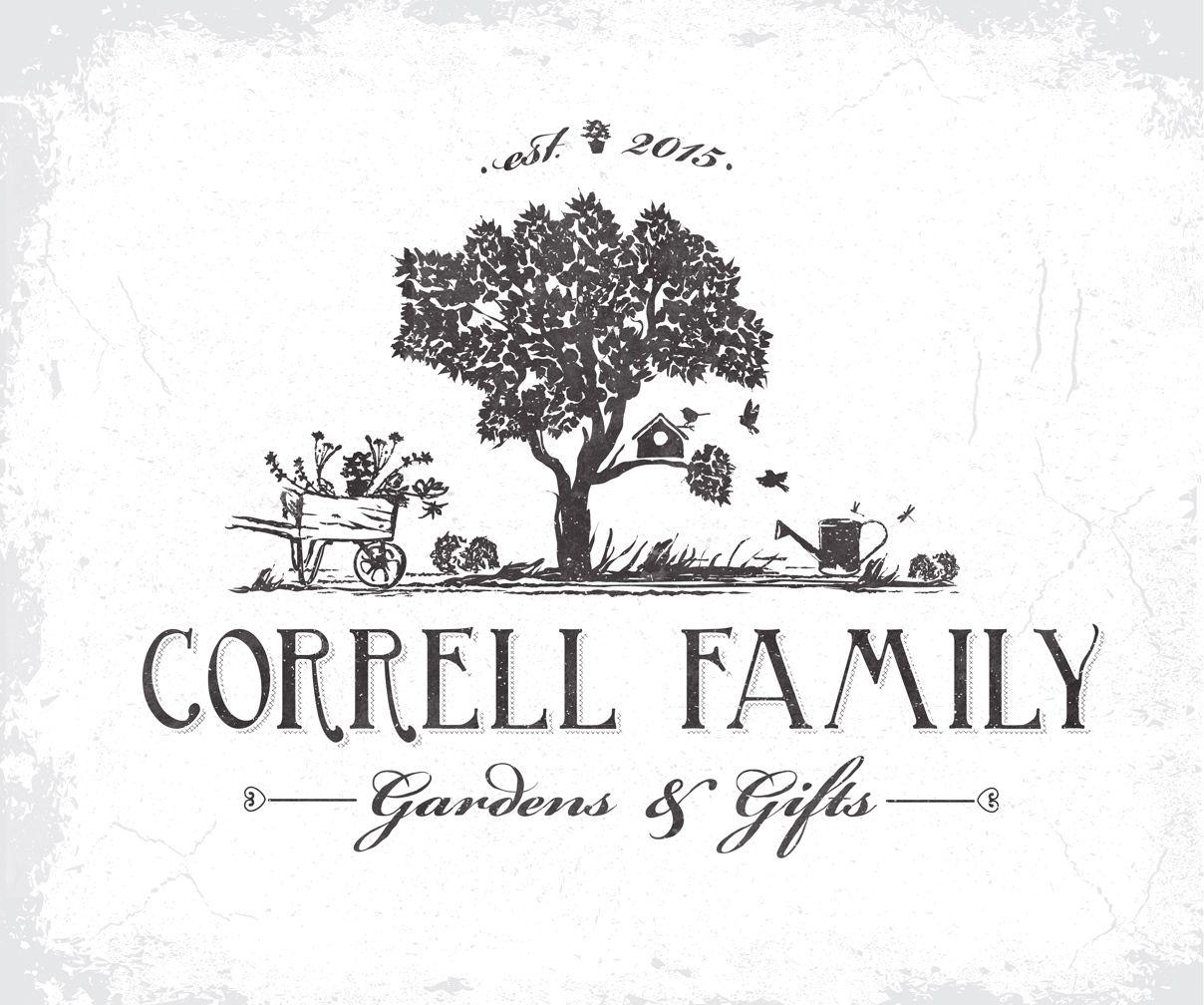 Logo for a family owned Garden Center Correll Family # ...