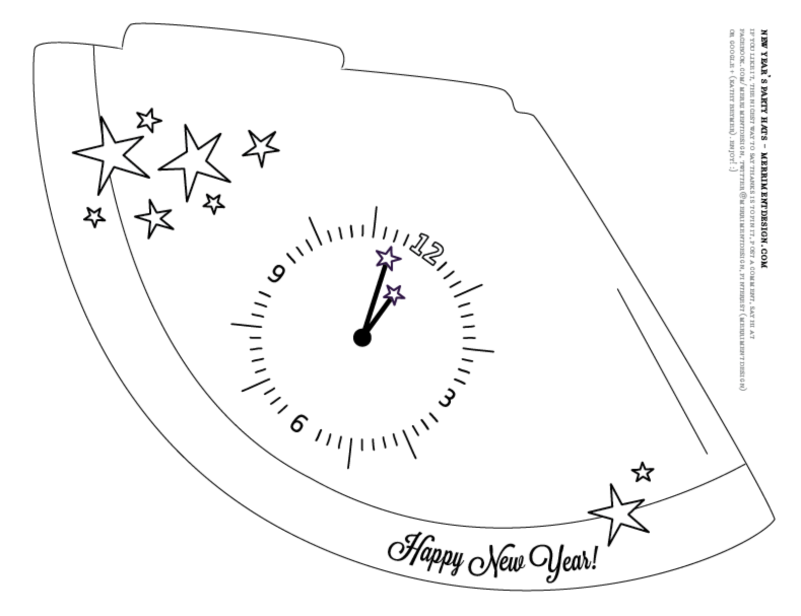 Free Printable New Year S Eve Party Hats