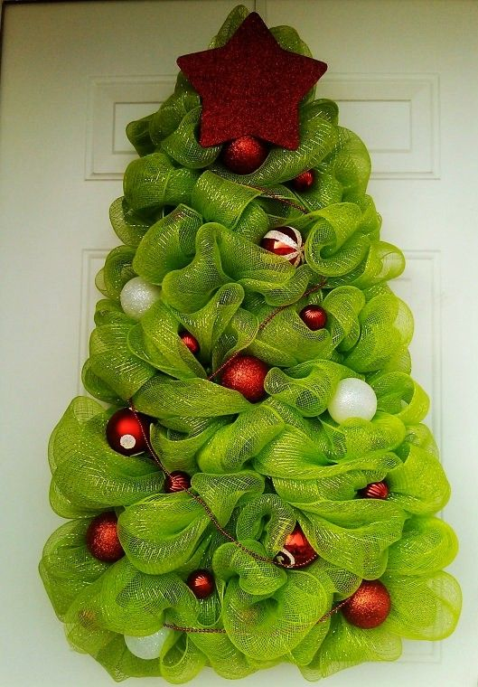 2014 Deco Mesh Christmas Tree So much fun to make! - Fashion Blog - how to decorate a small christmas tree